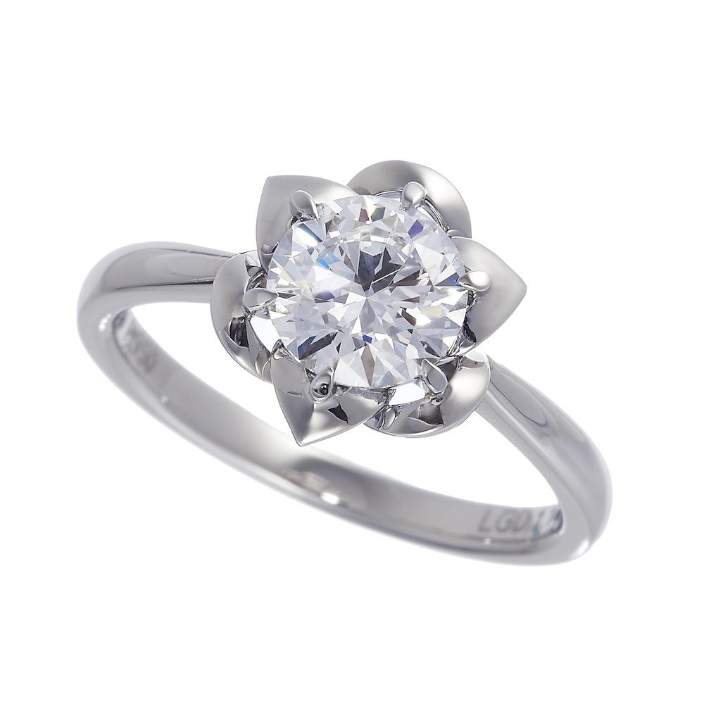 一粒ラボグロウンダイヤモンド 1.0ct リング Pt950