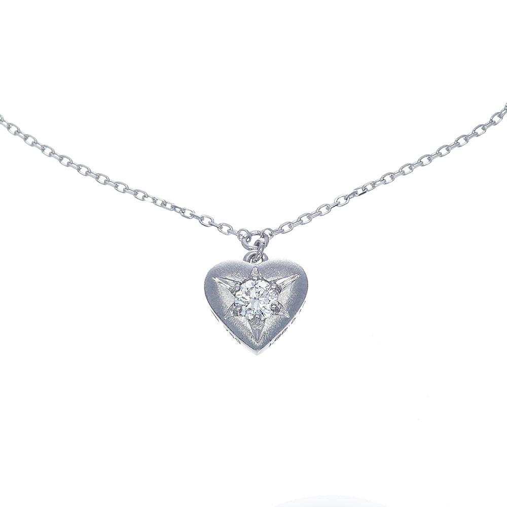 ブライト ラボグロウン ダイヤモンド 中石 0.1ct ハート ブレスレット K18WG