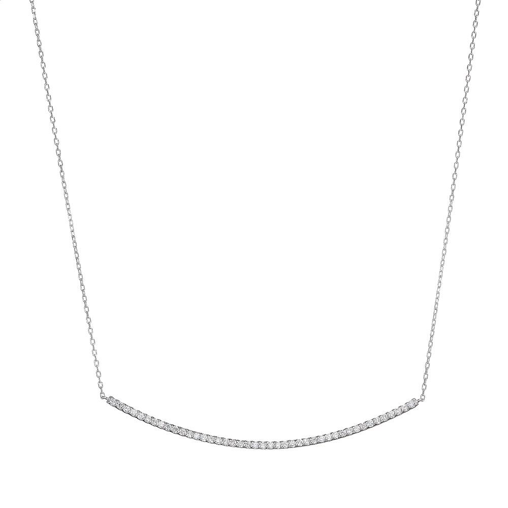 ブライト ラボグロウン ダイヤモンド ライン ネックレス K18WG