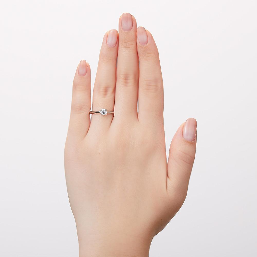 Bright ラボグロウン ダイヤモンド 中石 0.3ct 4本爪 リング プラチナ