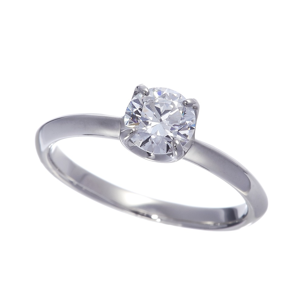 Bright ラボグロウン ダイヤモンド 中石 0.7ct 4本爪 リング プラチナ