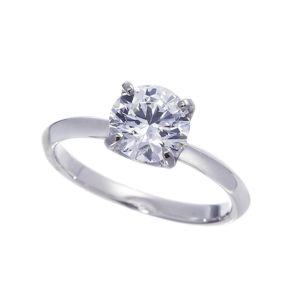 ビーリュクス ラボグロウン ダイヤモンド 中石 1.5ct 4本爪 リング プラチナ