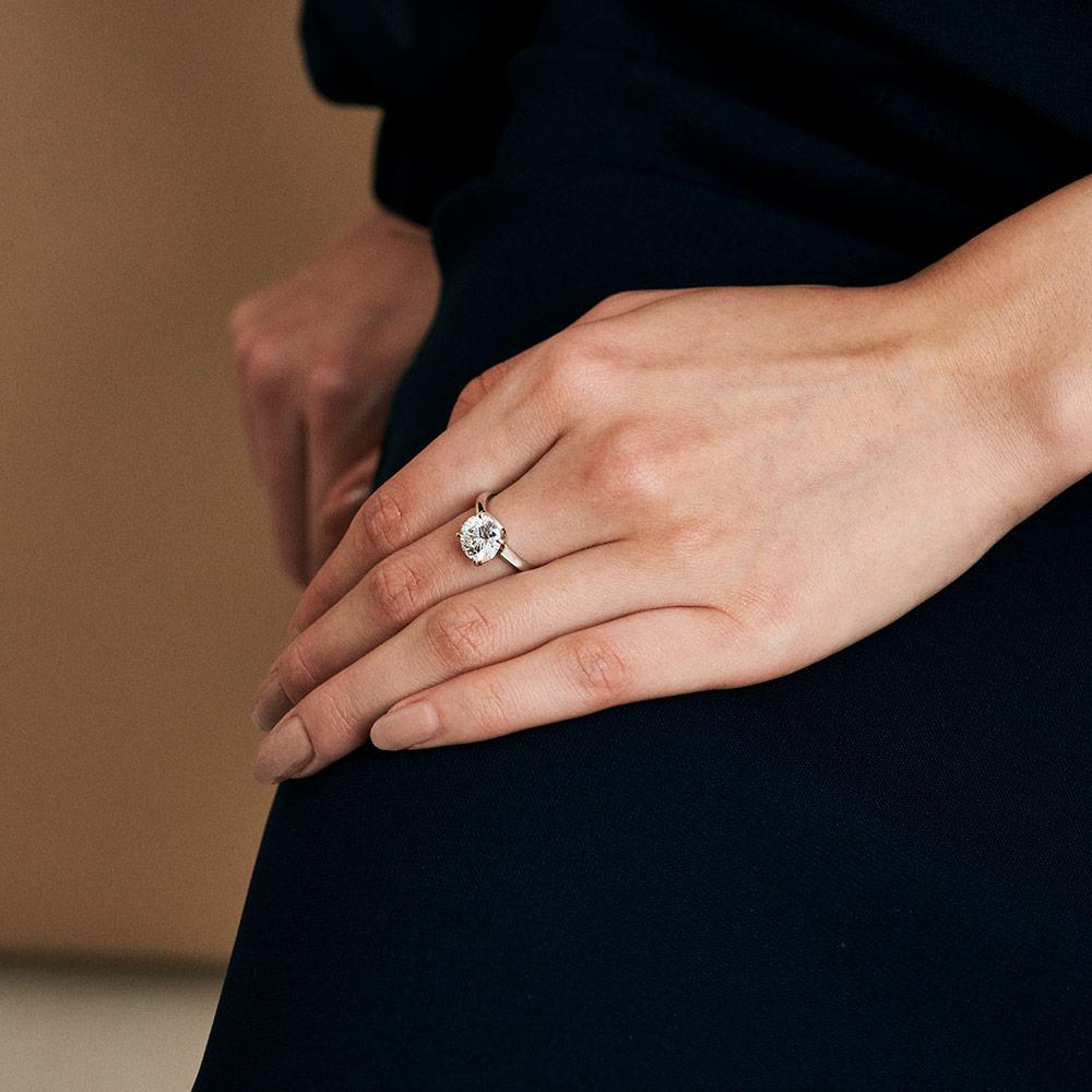 ビーリュクス ラボグロウン ダイヤモンド 中石 2.0ct 4本爪 リング プラチナ