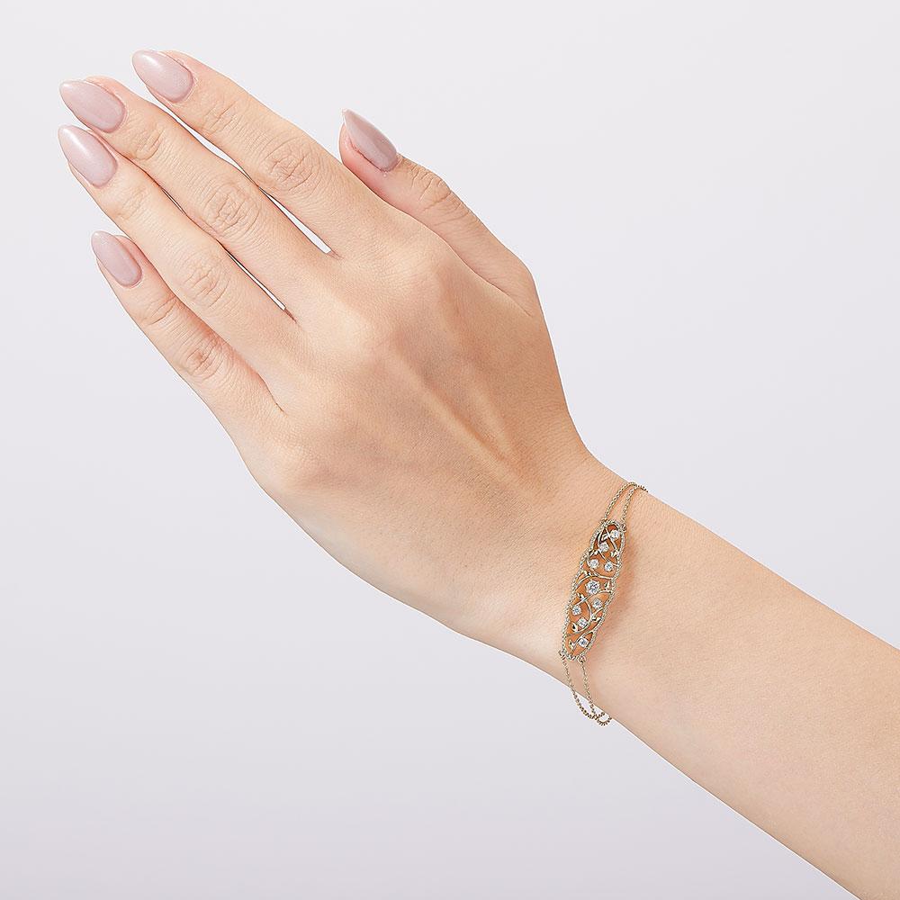 ローズオブシャロン ラボグロウン ダイヤモンド ブレスレット K18WG