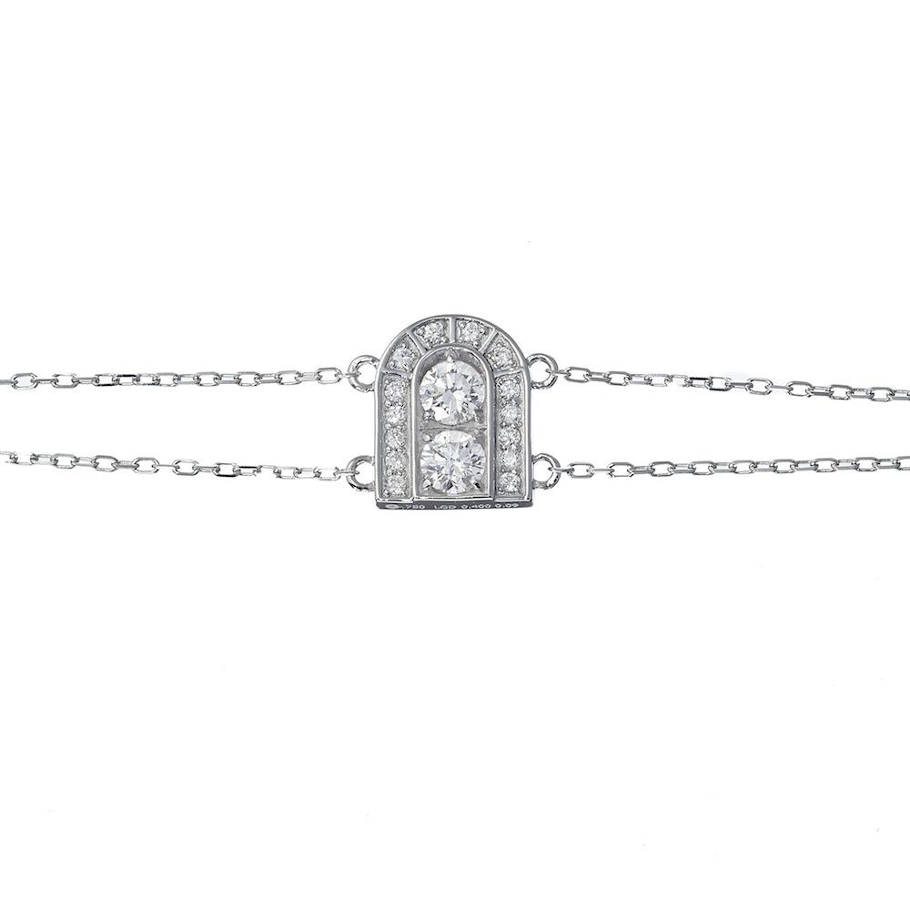 ドア ラボグロウン ダイヤモンド ブレスレット K18WG