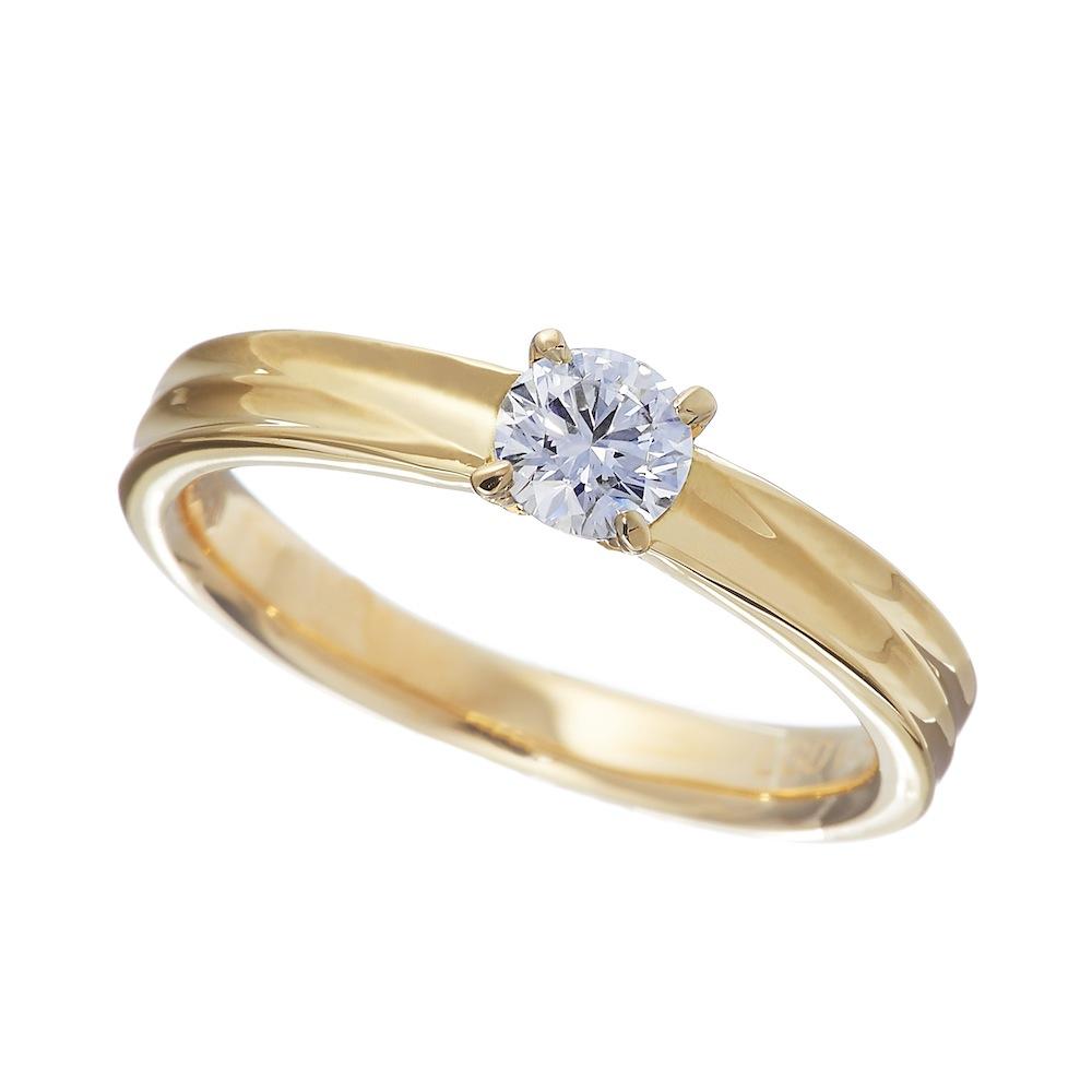テラ ラボグロウン ダイヤモンド 0.3ct リング K18YG