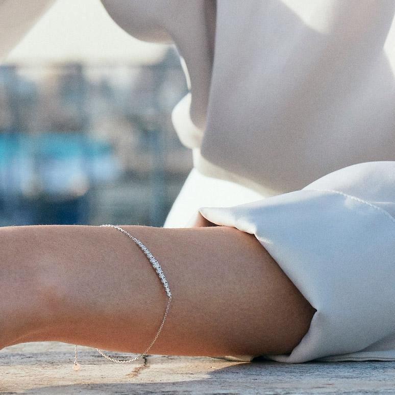 ステラ ラボグロウンダイヤモンド ライン ブレスレット K18WG