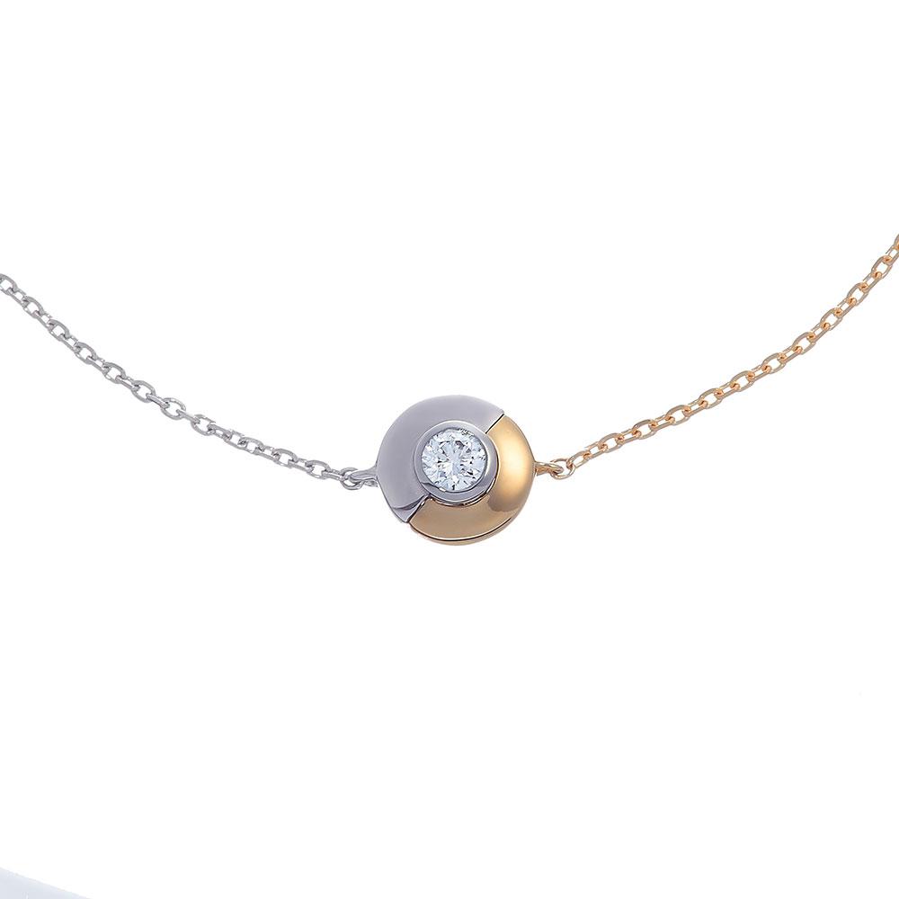 デュアル ラボグロウン ダイヤモンド 中石 0.1ct ブレスレット K18YG/プラチナ