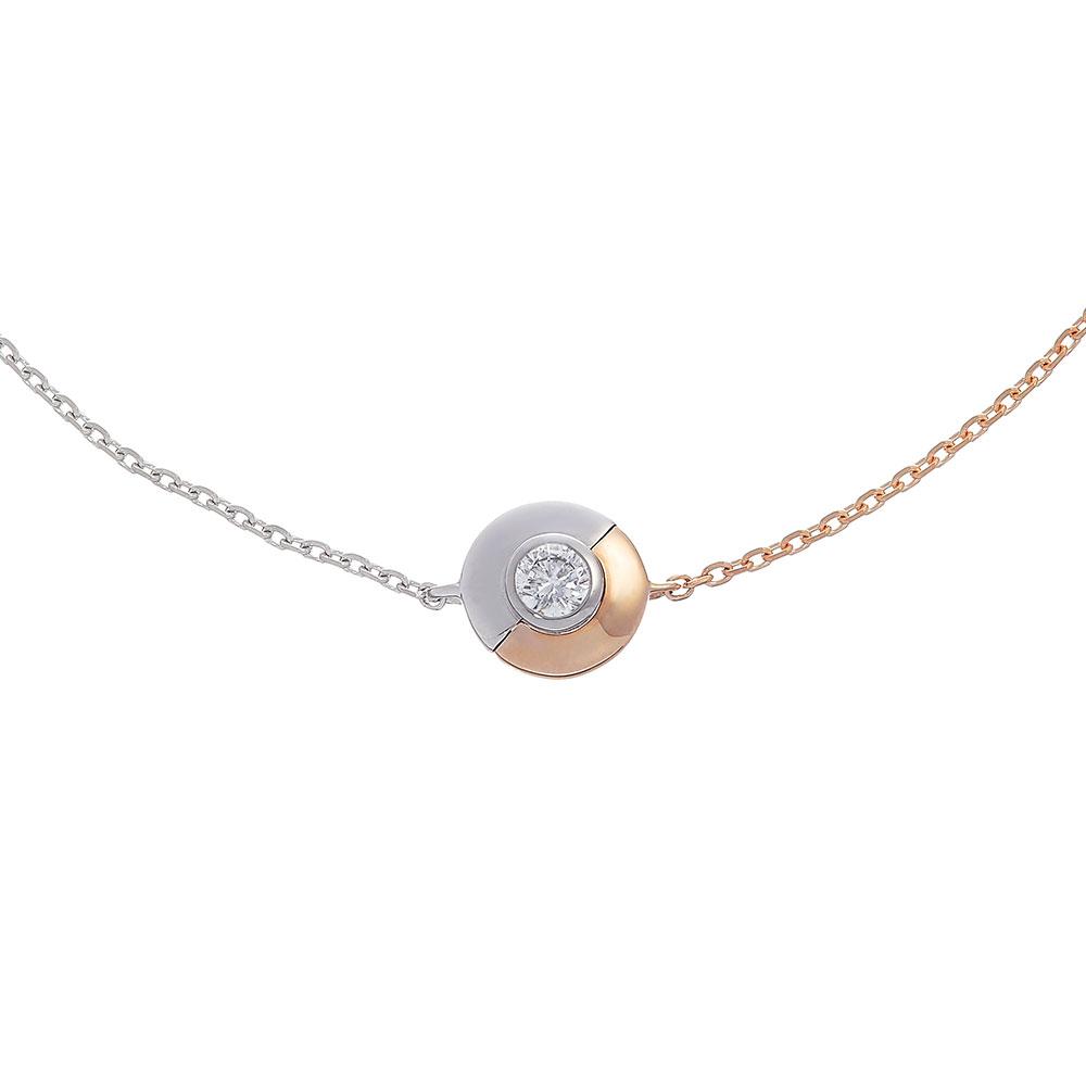 デュアル ラボグロウン ダイヤモンド 中石 0.1ct ブレスレット K18PG/プラチナ