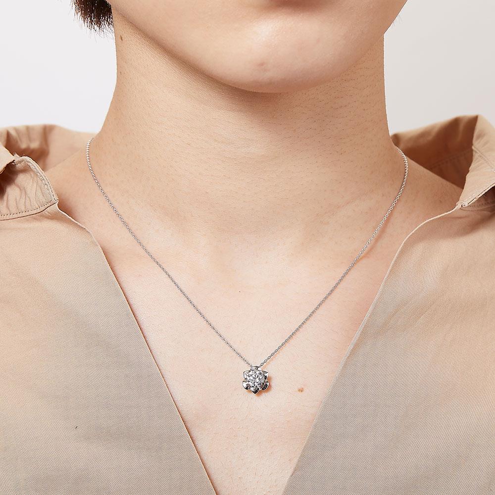一粒ラボグロウンダイヤモンド 1.0ct ペンダント K18PG