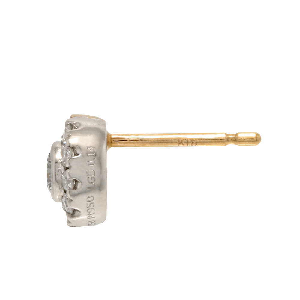 デュアル ラボグロウン ダイヤモンド 中石 0.1ct ピアス K18YG/プラチナ
