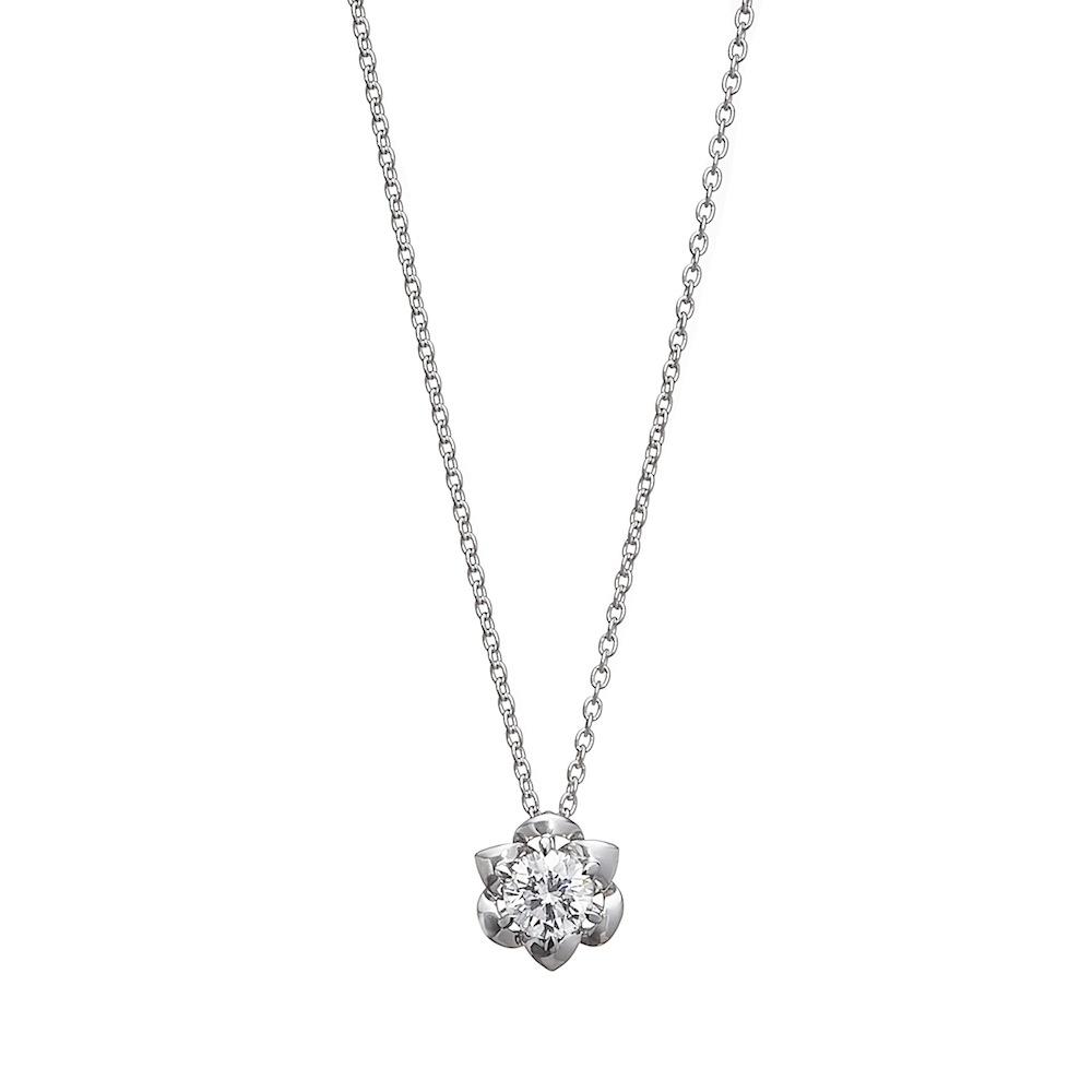 一粒ラボグロウンダイヤモンド 0.3ct ペンダント K18WG