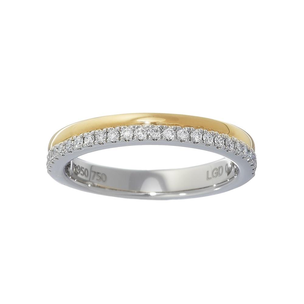 デュアル ラボグロウン ダイヤモンド  リング K18YG/プラチナ