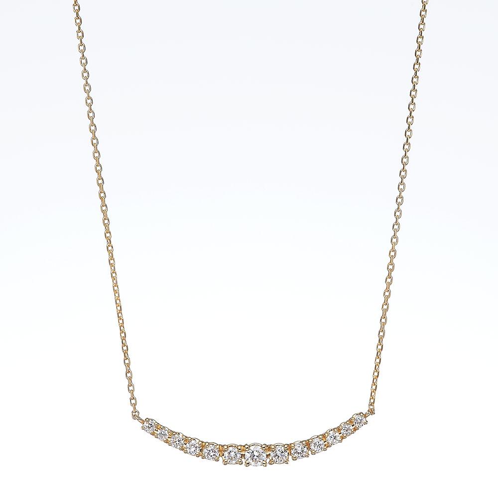 ステラ ラボグロウンダイヤモンド ライン ネックレス K18YG