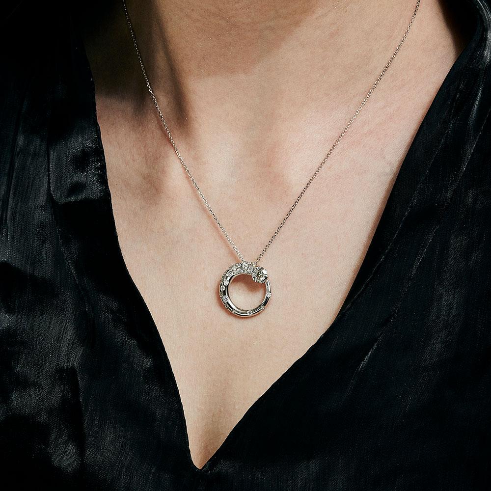 トラジェクトリー ラボグロウン ダイヤモンド 中石 0.7ct ペンダント K18YG