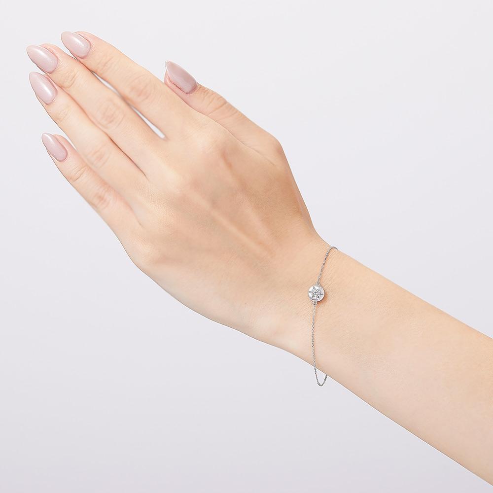 ブライト ラボグロウン ダイヤモンド 中石 0.1ct ブレスレット K18YG