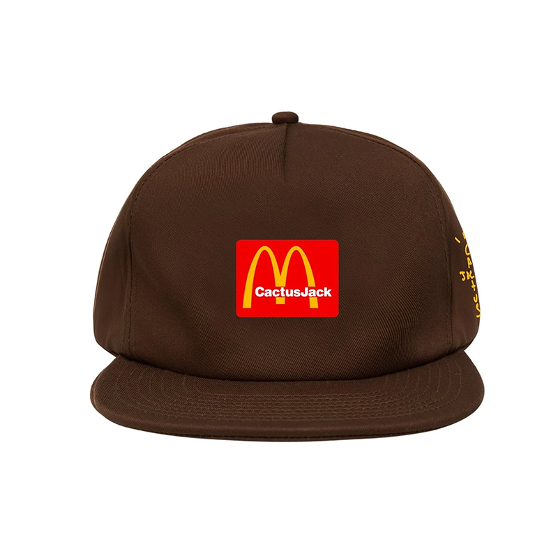 TRAVIS SCOTT X MCDONALD'S CJ ARCHES HAT BROWN