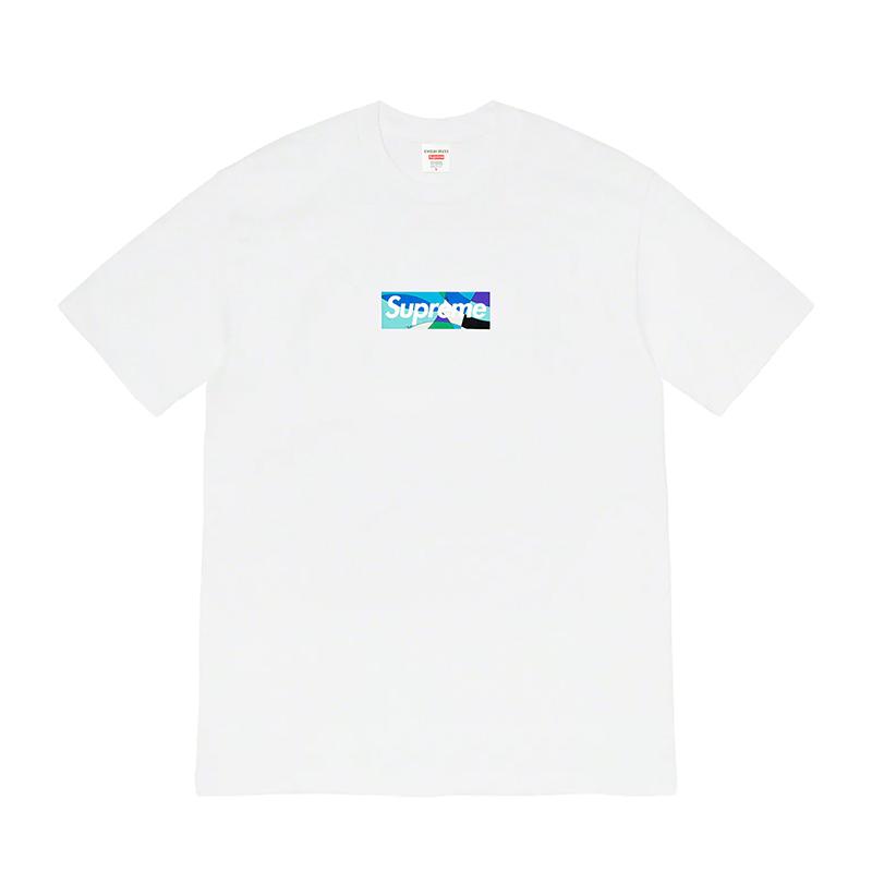 SUPREME EMILIO PUCCI BOX LOGO TEE WHITE/BLUE