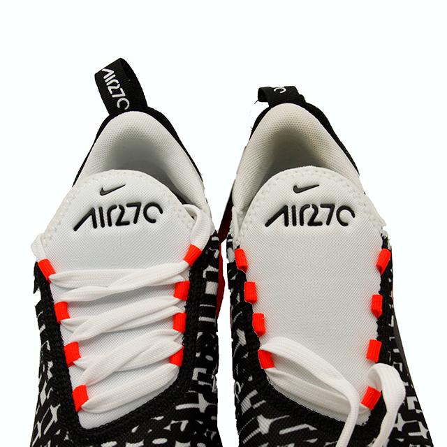 【アウトレット品】 NIKE AIR MAX 270 PRINT BLACK WHITE BRIGHT CRIMSON (GS) O-AR0021-001