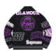 SUPREME × HYSTERIC GLAMOUR LOGOS ZIP UP SWEATER BLACK