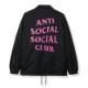 ANTI SOCIAL SOCIAL CLUB FOREVER HATED COACH JACKET BLACK
