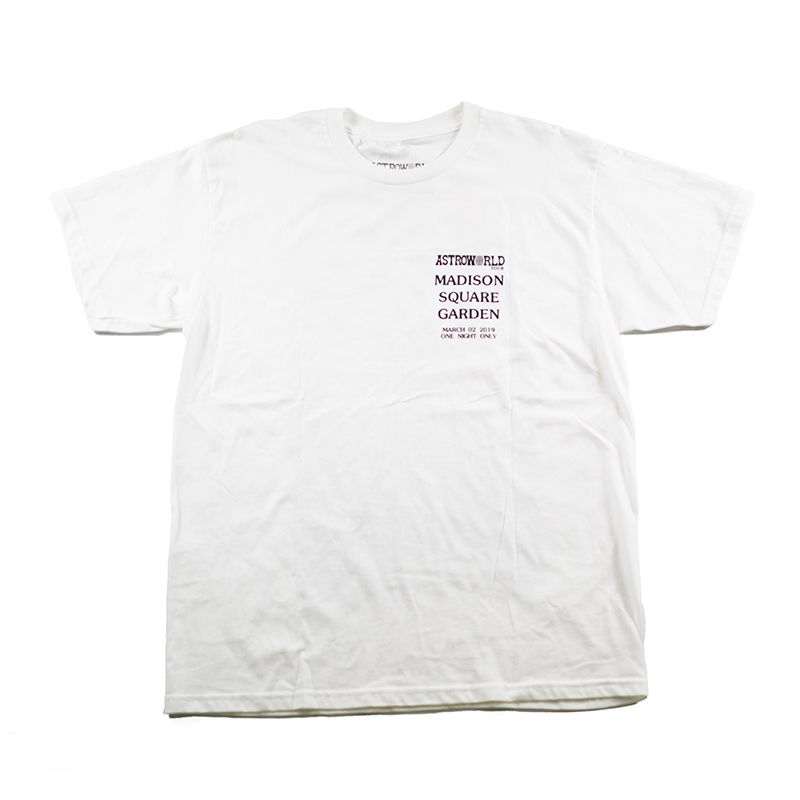 【USED ※新品未使用】TRAVIS SCOTT ASTRO WORLD STATUE OF LIBERTY TEE WHITE