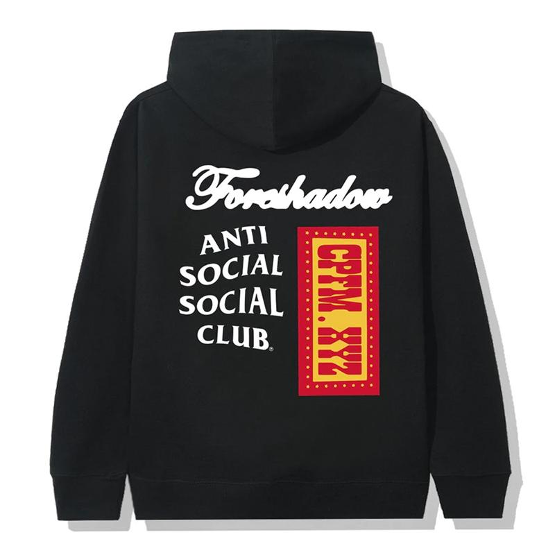 ANTI SOCIAL SOCIAL CLUB X CPFM HOODIE BLACK