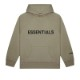 FEAR OF GOD ESSENTIALS  PULLOVER LOGO HOODIE CHARCOAL