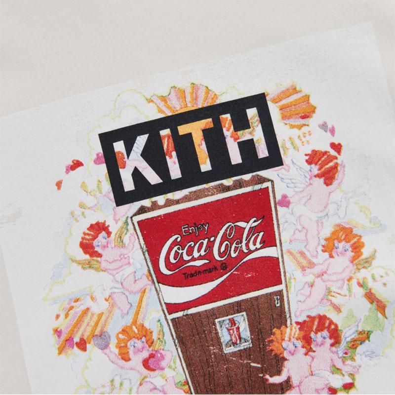 KITH × COCA-COLA LOVE MACHINE VINTAGE TEE IVORY