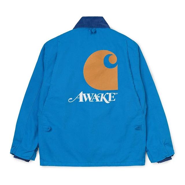 AWAKE × CARHARTT WIP MICHIGAN CHORE COAT BLUE