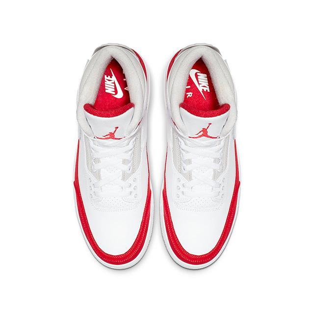 NIKE AIR JORDAN 3 RETRO TINKER WHITE UNIVERSITY RED CJ0939-100