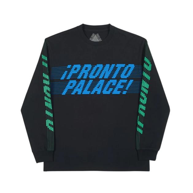 PALACE PRONTO LONGSLEEVE T-SHIRT BLACK