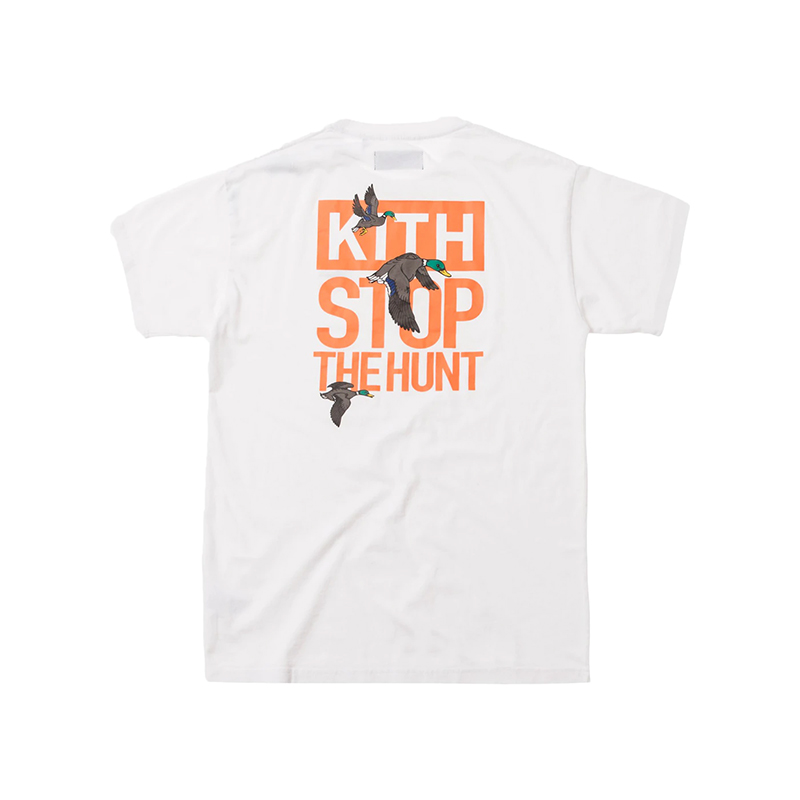 KITH STOP THE HUNT TEE WHITE