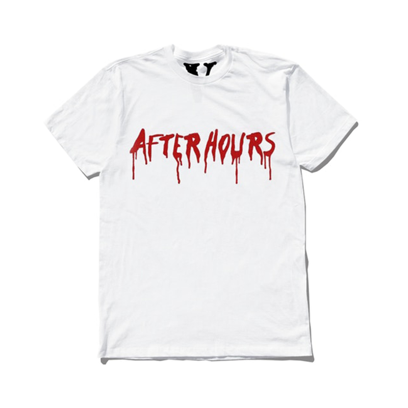 THE WEEKND × VLONE AFTER HOURS BLOOD DRIP TEE WHITE