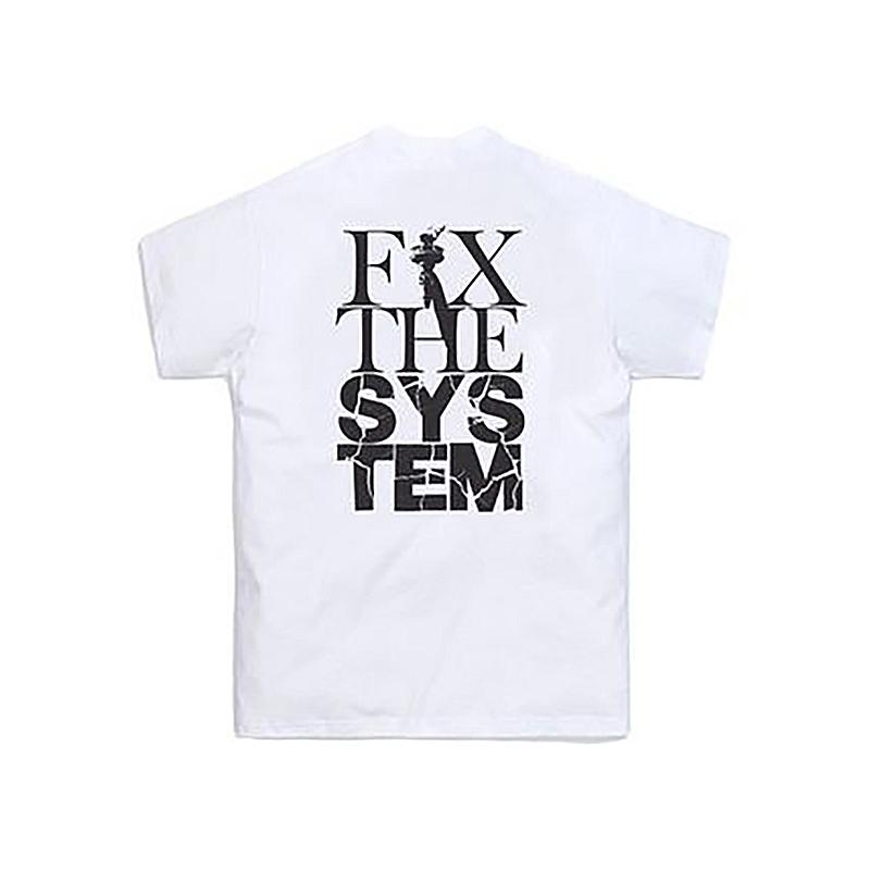 KITH FIX THE SYSTEM TEE WHITE