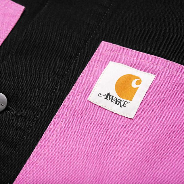 AWAKE × CARHARTT WIP MICHIGAN CHORE COAT BLACK/PINK