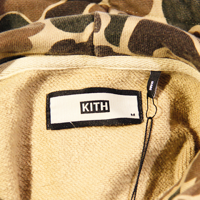 Kith Timberland Williams Hoodie Duck Camo Mサイズ【キス ティンバーランド ウィリアム フーディー ダック カモ】FW17