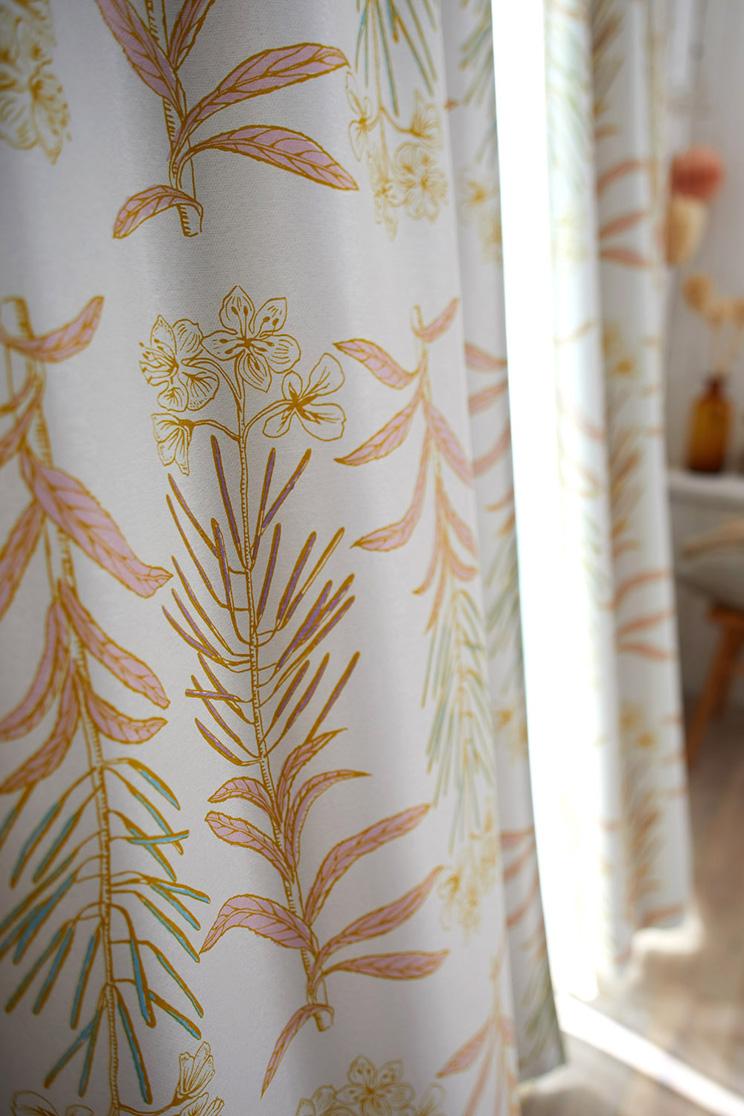 2級遮光カーテン スミノエ デザインライフ 「GLASSE グラッセ イエロー」 幅〜300cm×丈〜260cm