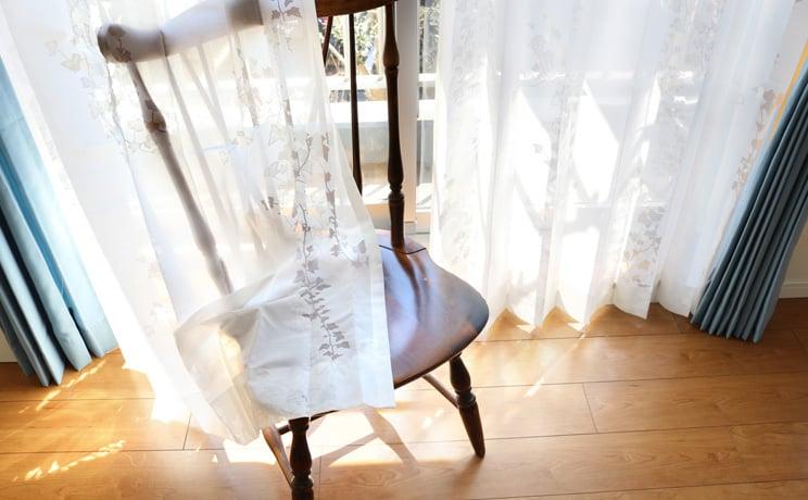 【最短6営業日で出荷】オパールレースカーテン「Ivy アイヴィー ホワイト」  幅〜100cm×丈〜140cm