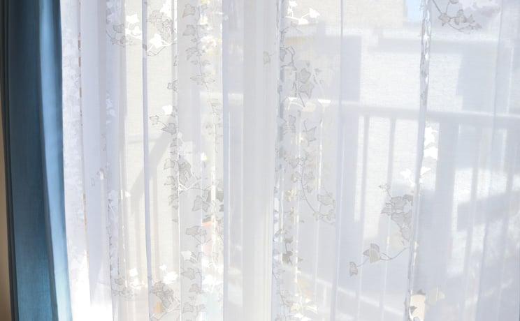 【最短6営業日で出荷】オパールレースカーテン「Ivy アイヴィー ホワイト」  幅〜100cm×丈〜260cm