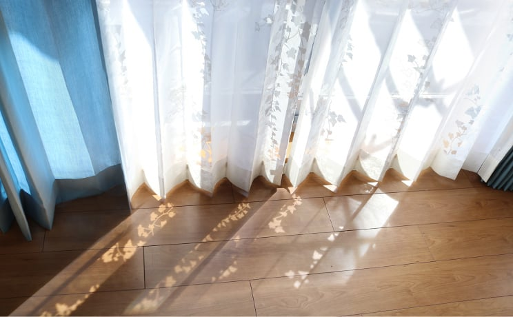 【最短6営業日で出荷】オパールレースカーテン「Ivy アイヴィー ホワイト」  幅〜200cm×丈〜200cm