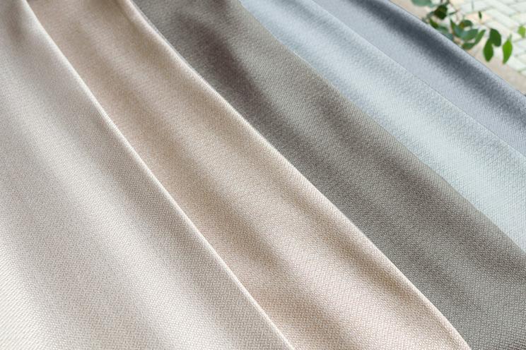 【最短6営業日で出荷】非遮光カーテン「Fiore フィオレ グレー」幅〜400cm×丈〜140cm