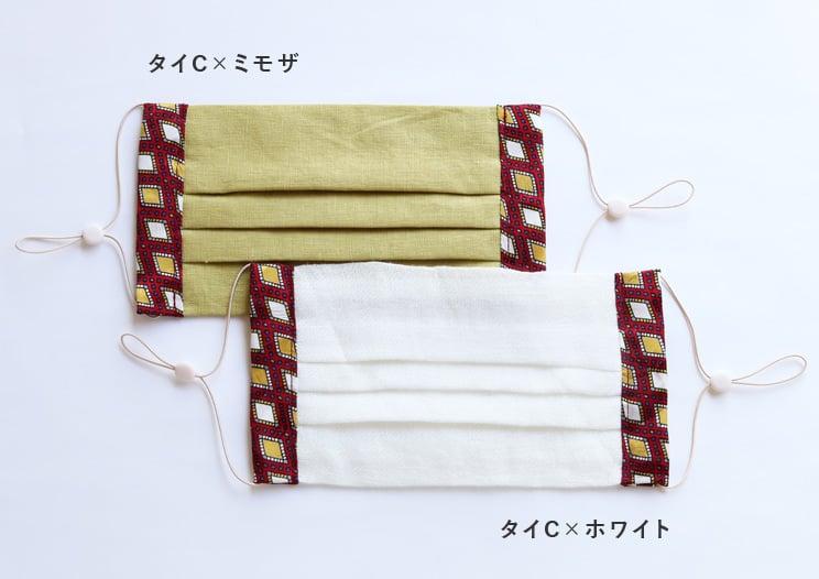 テキスタリアン オリジナル 布マスク 「ネクタイイラズ」 タイB×ホワイト