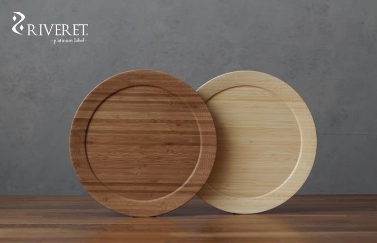 名入れ 木製プレート リヴェレット RIVERET ディナープレート L <単品>