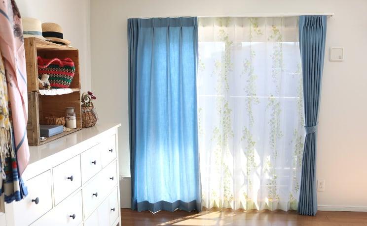 【最短6営業日で出荷】オパールレースカーテン「Ivy アイヴィー イエローグリーン」  幅〜200cm×丈〜200cm