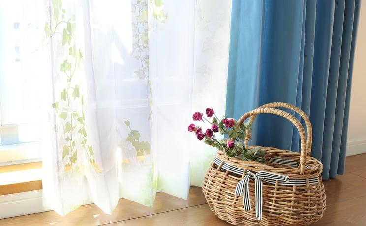 【最短6営業日で出荷】オパールレースカーテン「Ivy アイヴィー イエローグリーン」  幅〜300cm×丈〜140cm