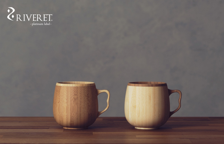 名入れ 木製グラス リヴェレット RIVERET カフェオレマグ <ペア> セット
