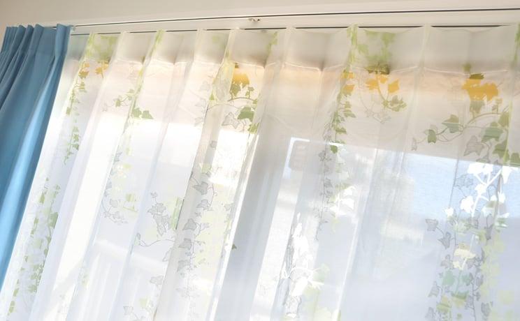 【最短6営業日で出荷】オパールレースカーテン「Ivy アイヴィー イエローグリーン」  幅〜400cm×丈〜260cm