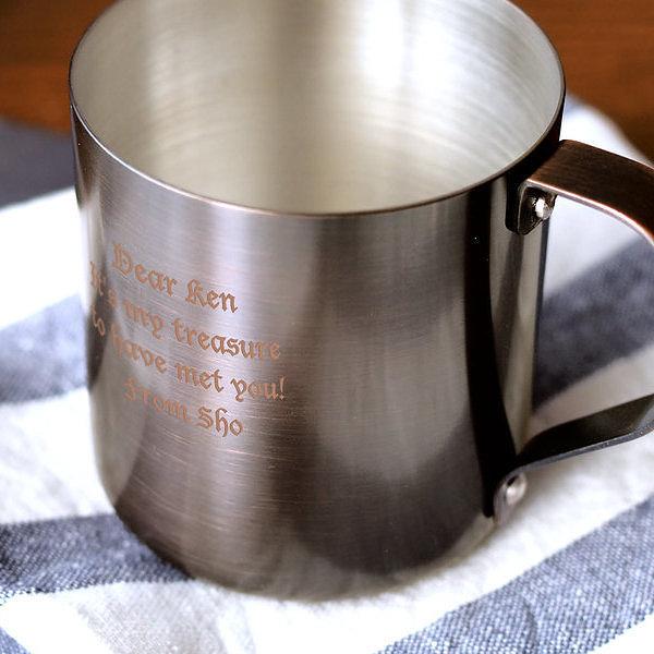 名入れ コッパーマグ マグカップ アイスコーヒー用
