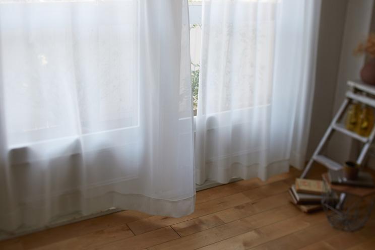 ミラーレースカーテン スミノエ デザインライフ 「GLACE グラース ナチュラルホワイト」 幅〜300cm×丈〜260cm